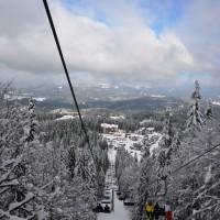 Pamporovo Bulgarije skilift omlaag