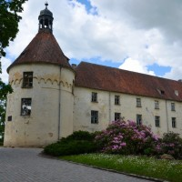 Kasteel Jaunpils in Letland