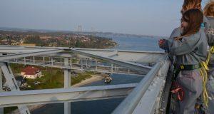 Denemarken-Funen-Middelfart-bridgewalking