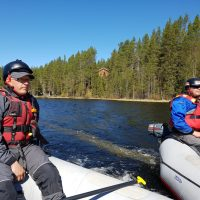 Gidsen van Ruka Safaris in Finland
