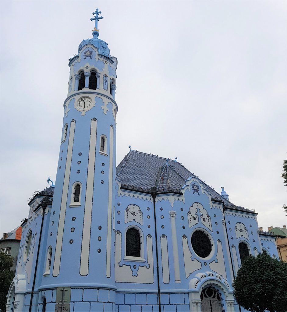 blauwe kerk in Bratislava